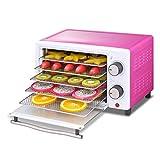 Disidratatore di verdure Essiccatore per frutta, tempera per controllo temperatura Essiccatore per frutta elettrica 5 vassoi in acciaio inox rosa rossa 300w