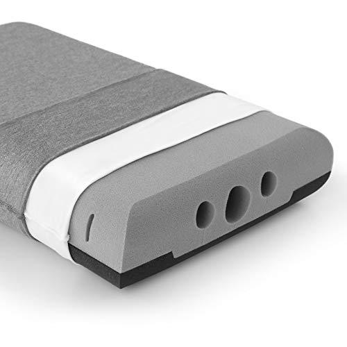 Newentor® Kopfkissen, Memory Foam Schlafkissen mit Zwei Härtegrade, Orthopädisches Nackenstützkissen für Seiten- und Rückenschläfer, Atmungsaktives Kissen mit waschbarem Bezug, Nackenkissen für HWS