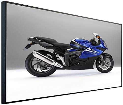 Ecowelle Infrarotheizung mit Bild | 600 Watt | 60x120x2 cm | Infrarot Heizung| | Made in Germany| e 141 Blaues Motorrad