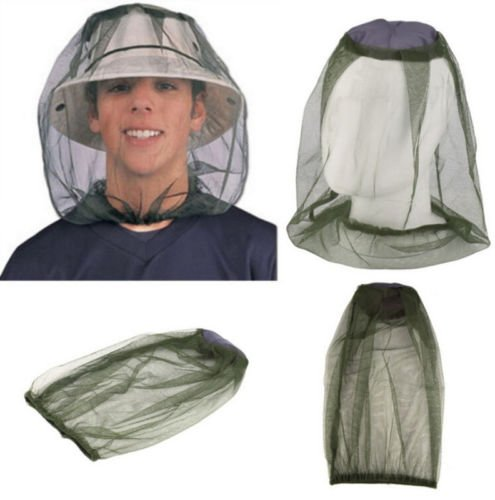NPLE--Face Protector Mesh Camping Net Midge Hat Travel HOT Head Insect Mosquito Bug