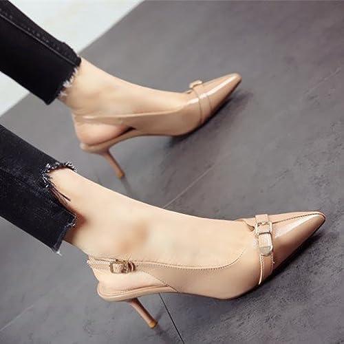 FLYRCX Spsacue Lady's Style High Heel et Hauts Talons Chaussures Chaussures de Parti Unique