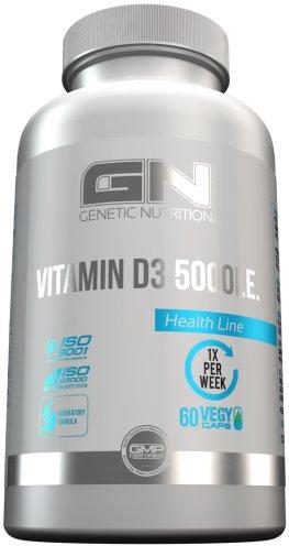 GN Laboratories Vitamin D3 5000IE Essentielle Vitamine Für Immunsystem Muskeln Knochen Supplement...