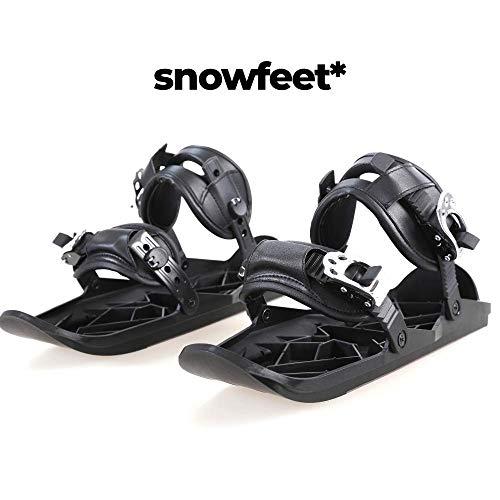 Snowfeet X - Mini Ski Skates for Snow The Short Skiboard Snowblades The Real Original
