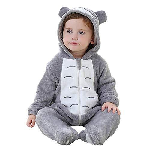 Unisex Baby Romper Flanellen Pyjama Dier Jumpsuits Met Capuchon Rits Pasgeboren Uitloper