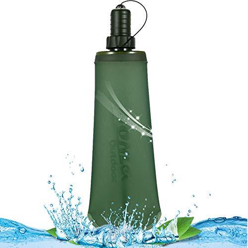 CHEPL Botella de Agua Plegable Botella Flexible TPU Botella de hidratación de...