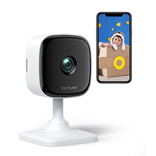Victure Indoor Security Camera With 1080P Pet Home Camera, Baby Monitor, 2.4 Ghz Wi-Fi with Sound & Motion Detection for...