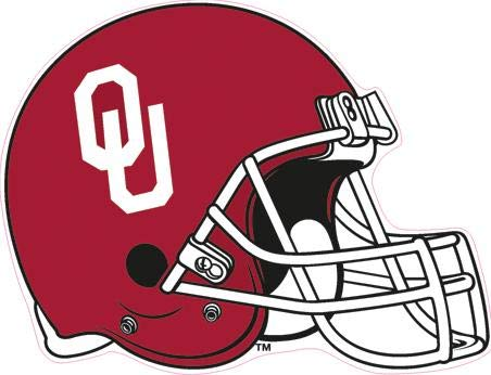 5 Inch Football Helmet OU University of Oklahoma Sooners Boomer Sooner Logo Removable Wall Decal Sticker Art NCAA Home Room Decor 5 by 4 Inches