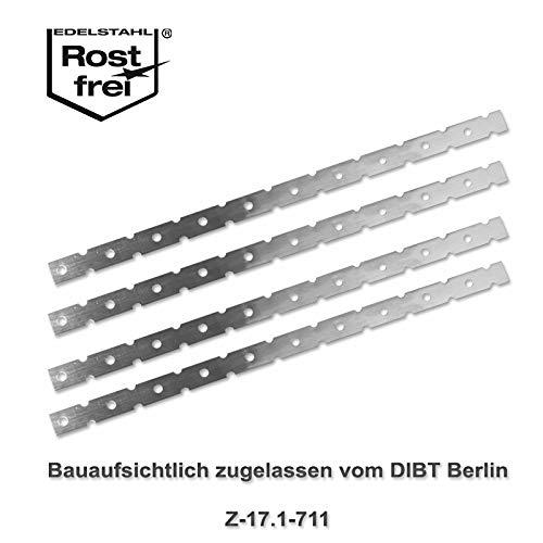 Mauerverbinder Flachanker, Anschlussanker 300 x 15 x 0,5mm | 25 Stück