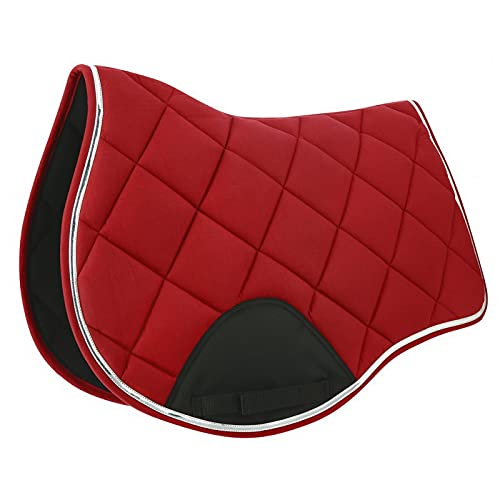 EQUITHEME Tapis Infinity - Couleurs - Rouge/Glitter, Taille Equipement Cheval - Cheval
