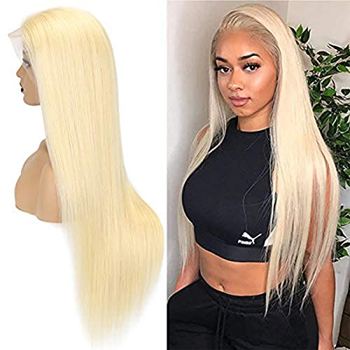 613 Blonde Lace Front Wig Human Hair Pre Plucked 150% Density 13x4 Straight Brazilian Virgin Human Hair for Women with Baby Hair 13×4 straight 30inch
