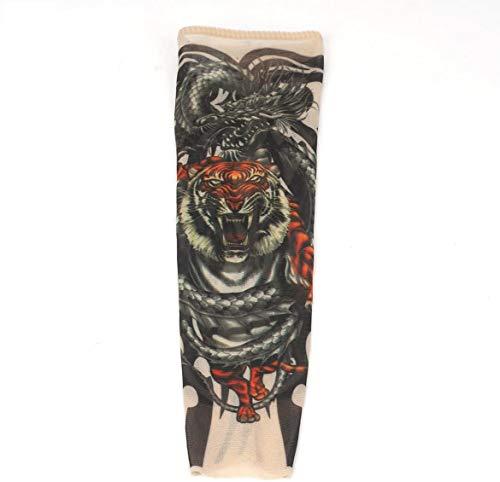 voso Tattooärmel, 2 STK Tattoo Ärmel Tattooärmel Tattoosleeve Skin Tattoowiert Stulpe Kostüm Halloween Strümpfe Kinder (Tiger)