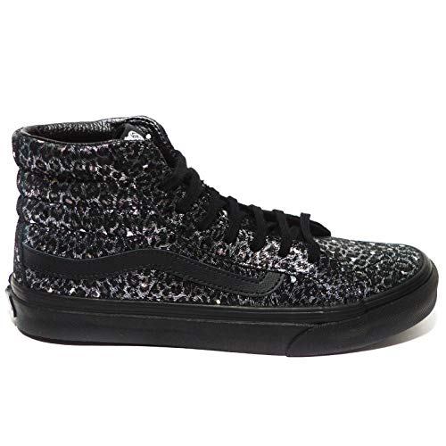 Vans Old Skool, Unisex Erwachsene Low-Top Sneaker, - Black/Metallic Leopard - Größe: 36 EU