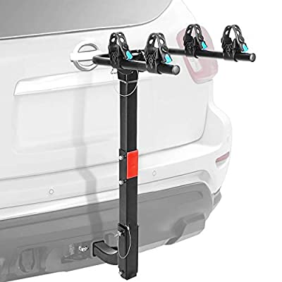 """Leadpro 2-Bike Bicycle Hitch Mount Carrier Rack Foldable Rack for Cars, Trucks, SUV's and Minivans, Fit for 2"""" Hitch Receiver"""