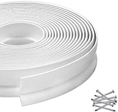 Garage Door Seal Top and Sides, Garage Seal Strip Replacement, Universal Garage Door Weather Stripping with Nails 33 Feet Long