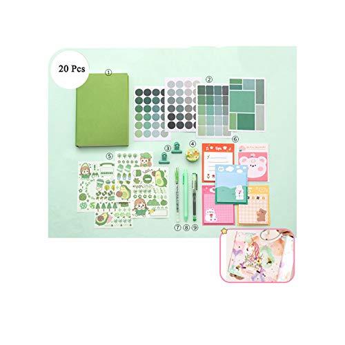 GRAFTS Serie Macaron Planificador de hojas móviles, bonito secreto, papelería, regalos para niñas, material de oficina escolar