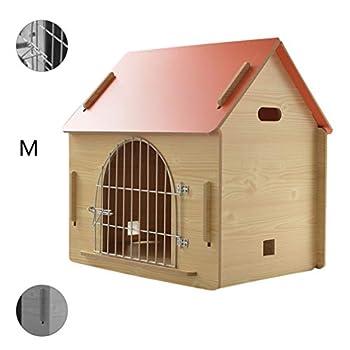 Maison pour animaux lit pour animaux de compagnie Villa pour animaux de compagnie Niche pour chien en plein air Litière pour chat d'intérieur Cages et chenils ( Color : Orange , Size : 51*39.5*52cm )