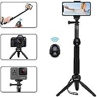 Alfort Palo Selfie, Selfie Stick Bluetooth Trípode Portátil con Control Remoto per iPhone 11 Pro/X/8/Samsung GALAXY S10/S9/Huawei P20/Mate 10 y Otros Teléfonos con Android/iOS (6.0