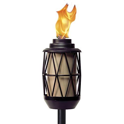 Tiki Brand BiteFighter Wire Metal Torch, 64.25 Inch, Modern Bronze and...