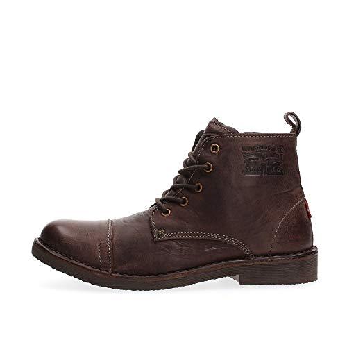 Levi's Botas de Tobillo de Cuero marrón Oscuro para Hombre, Color, Talla 43 EU
