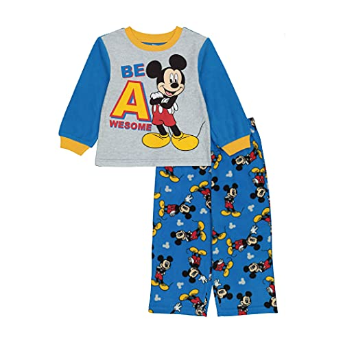 Disney Boys' Mickey Pajama Set, Funny Mouse, 3T