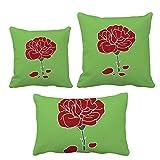 赤いカーネーション母日花の植物 インサートのクッション・カバー/装飾贈り物がセットした家のソファ、枕を放り投げます
