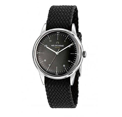 Reloj Melbourne correa textil negra