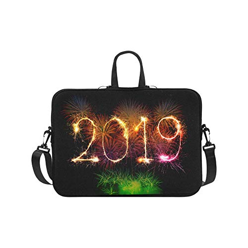 Happy New Year 2019 Colorful Fireworks Light up The Sky 17' Laptop Sleeve