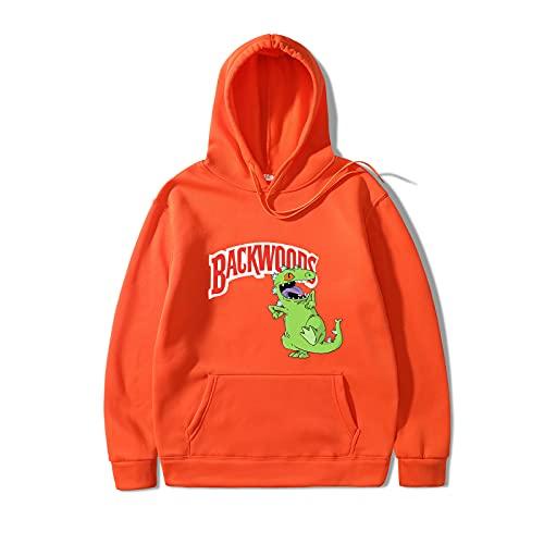 Men's And Women's Sweatshirts Casual Tops Backwoods Hoodie Sweatshirts Letter Spring And Autumn Plus Velvet XL Orange