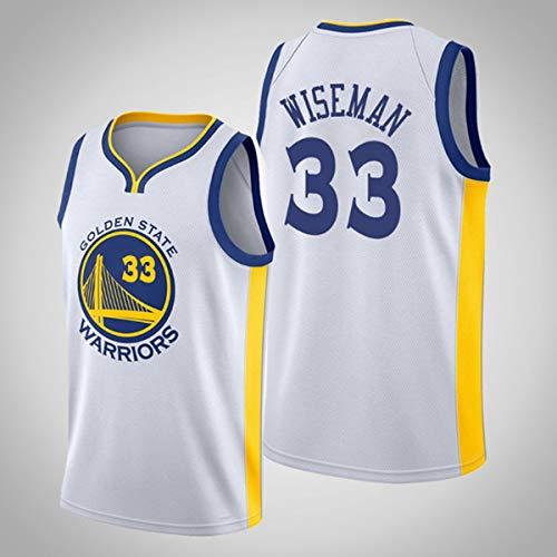 Jerseys De Baloncesto para Hombre, NBA Golden State Warriors James Wiseman 33# Cool Tela Transpirable Unisex Camisa De Entrenamiento Ventilador Sin Mangas Chaleco,A,M(170~175CM/65~75KG)