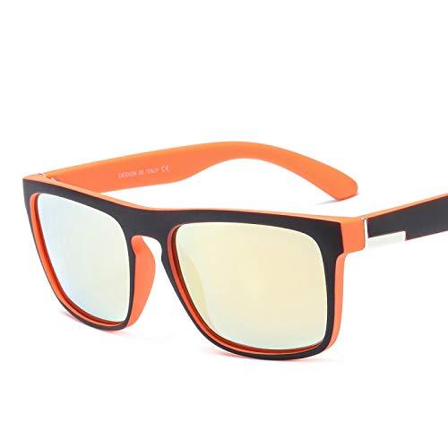 Unico Occhiali da Sole Sunglasses Occhiali da Sole Polarizzati di Design per Gli Uomini Che Guidano La Moda Square Black