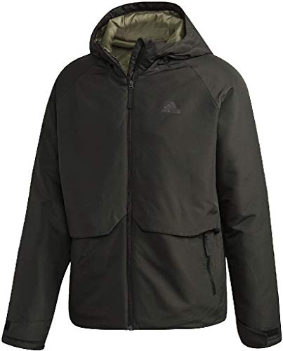 adidas Herren Insulated Hooded Winterjacke, Legend Earth, L