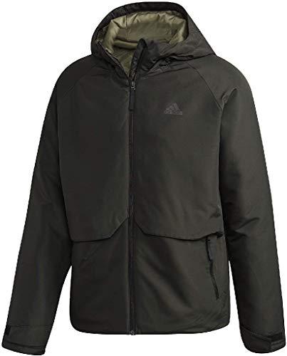 adidas Herren Insulated Hooded Winterjacke, Legend Earth, L