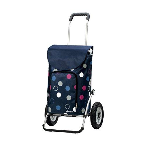 Andersen Shopper Royal mit kugelgelagertem Luftrad 25 cm und 41 Liter Tasche Kira blau mit Kühlfach