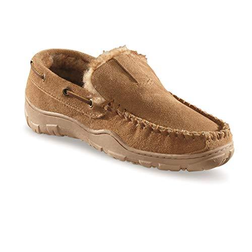 Guide Gear Mens Deerskin Moccasin Slippers