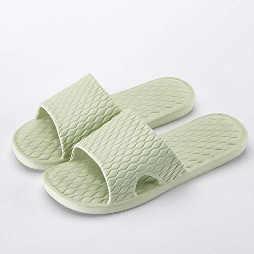 HUSHUI Bañarse Sandalias Zapatillas para Mujer,Zapatillas de casa Antideslizantes de Alta Elasticidad, Sandalias de baño para Parejas-Armygreen_36-37,Zapatos de Playa y Piscina para