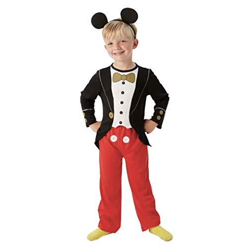 Rubie 's Offizielle Mickey Mouse Tuxedo Jungen Fancy Kleid Kinder Kids Disney Kostüm Outfit + Ohren, Größe S
