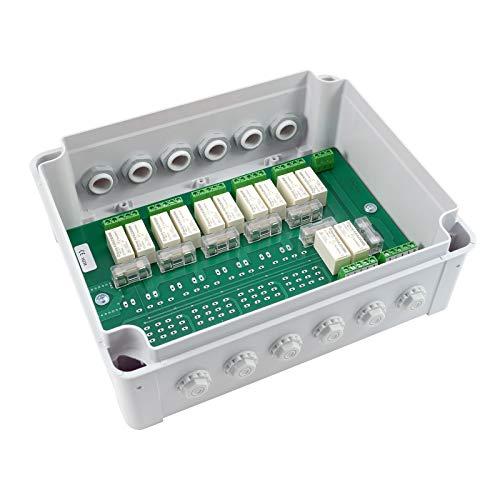 3T-MOTORS Motorgruppensteuergerät für 6 Motoren MSG6/AP, Rolladenmotor/Markisenmotor Einzel- und Zentralbedienung, Zentralsteuerung, Trennrelais, im AP-Kunststoffgehäuse
