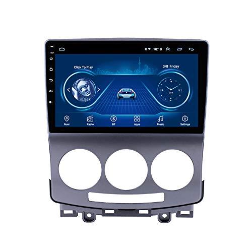 Kilcvt Unidad Principal De NavegacióN GPS Android 10 Reproductor Multimedia De Radio De Coche De 9 Pulgadas, para MAZDA5 2005-2010 Soporte Control del Volante/TV/DVD/Bluetooth,WiFi: 1 16g