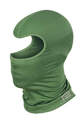 Prosske Pasamontañas térmico de malla para mujer, hombre, niño, niña, niño, pasamontañas verde Medium-Large