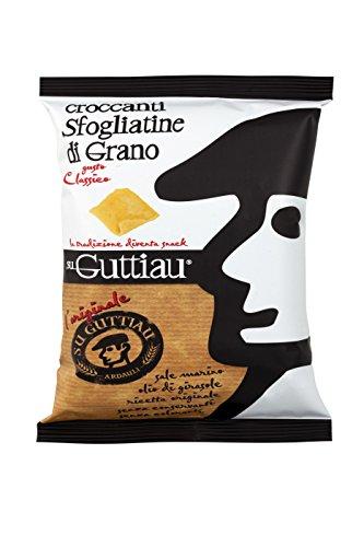 500 g - Su Guttiau Classico. Snack salato tradizionale sardo nella sua veste più moderna, prodotto da Su Guttiau, a Tramatza. Ideale per gli aperitivi in compagnia