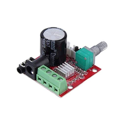 SUBALIGU PAM8610 Dual Channel DC 12V Pure Digital Audio Stereo Amplifier PCB Board Class D 10W x 2 High Power Amplifier Module