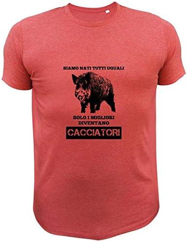 Siamo Nati Tutti Uguali Solo i Migliori Diventano Cacciatori Cacciatore e Cane AtooDog Maglietta da Caccia