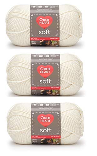 Red Heart E7284601 Red Heart Soft Yarn  Off White