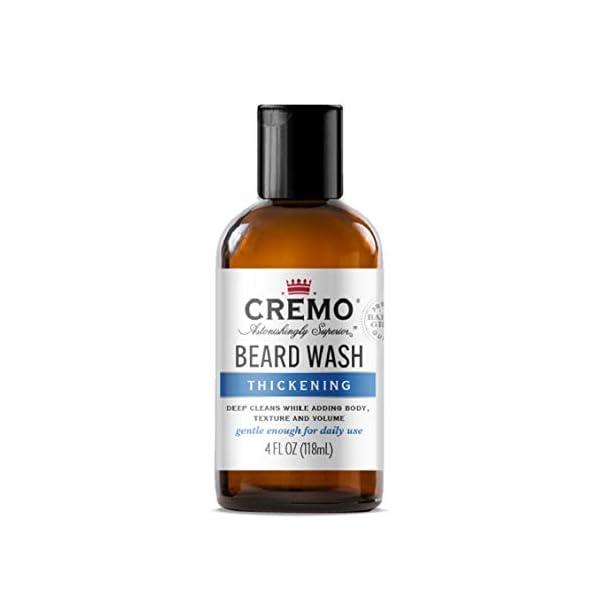 Cremo Beard Wash Thickening Formula Deep Cleans While Adding Volume, 4 Fl Oz 1