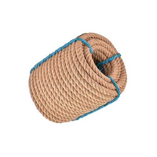 BD.Y Corde de Manille torsadée de 20 mm, tricotée à la Main, résistante aux étirements, Anti-âge, résistante à l'usure - 10M / 20M / 30M / 50M / 80M (Taille: 20m)