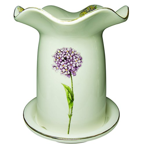 BUOP Lavender Flowered Utensil Crock HAS Drainage Holes ON The Bottom and Sits in A DRIP Tray