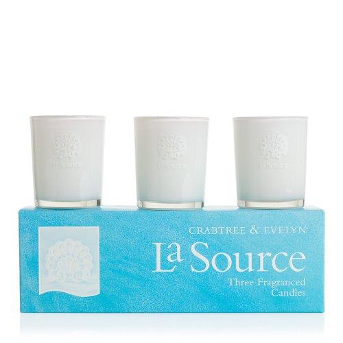 La Source. Le coffret de 3 bougies parfumées. Crabtree & Evelyn.