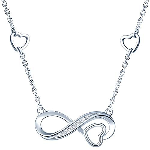 Victoria Kraft – Cadena de plata 925 con circonita, collar de mujer con piedras y caja de regalo, regalo de cumpleaños