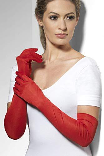 Smiffys Guantes, rojos, largos
