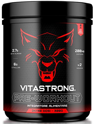 Vitastrong Pre Workout | Potentissimo Pre Workout | Carica Estrema | Extreme Pump | Per Uomo e Donna